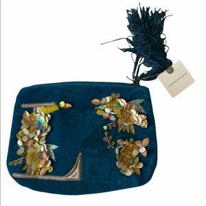 Anthropologie Embellished Make Up Bag